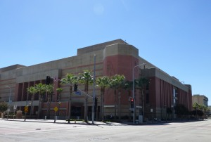Figure 5: After many years as a parking lot, USC's Galen Center now occupies the southeast corner of Jefferson and Figueroa