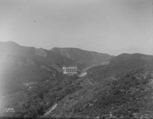 Figure 2: Eagle Rock Substation located in Scholl Canyon, 1917.  Source: The Huntington Library, Art Collections, and Botanical Gardens. Photo Archives, Southern California Edison Photographs and Negatives