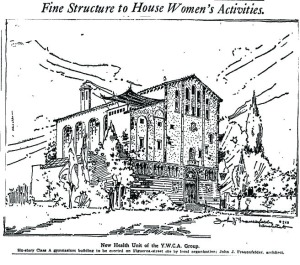 "Figure 3: Rendering from the Los Angeles Times of Frauenfelder's YWCA ""health unit"""