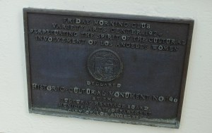"Figure 4: Plaque on the wall of the Variety Arts Building celebrating the ""cultural contributions"" of club members"